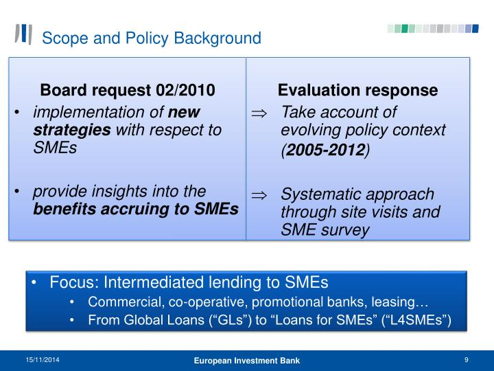 Scope and Policy Background