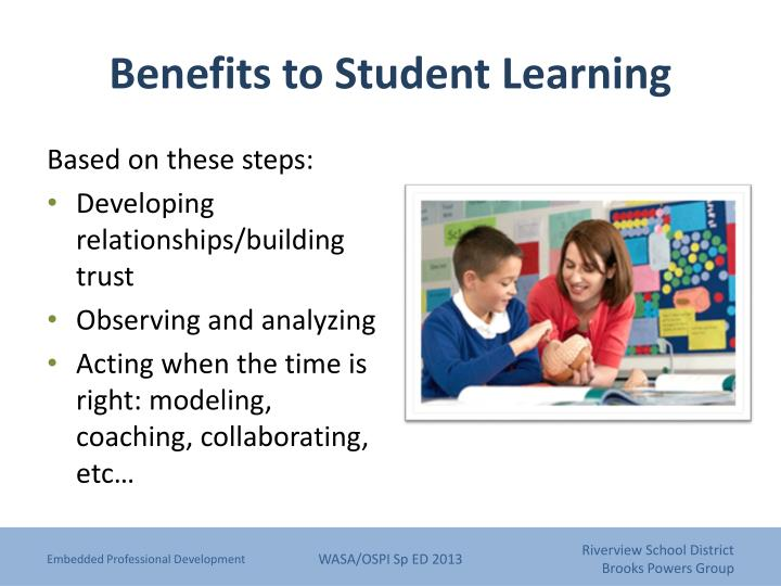 Benefits to Student Learning