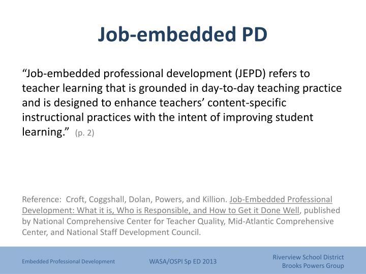 Job-embedded PD