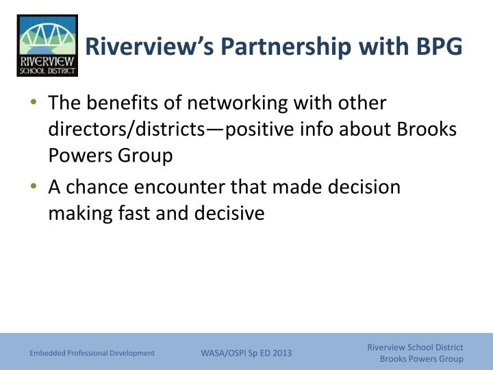Riverview's Partnership with BPG
