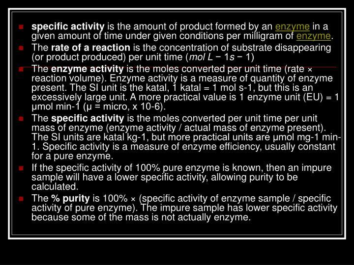 specific activity