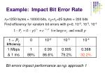 example impact bit error rate