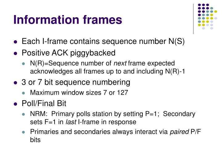 Information frames