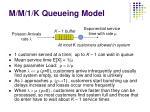 m m 1 k queueing model