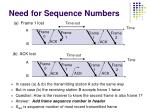 need for sequence numbers