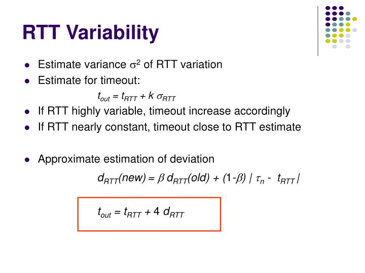 RTT Variability
