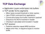 tcp data exchange