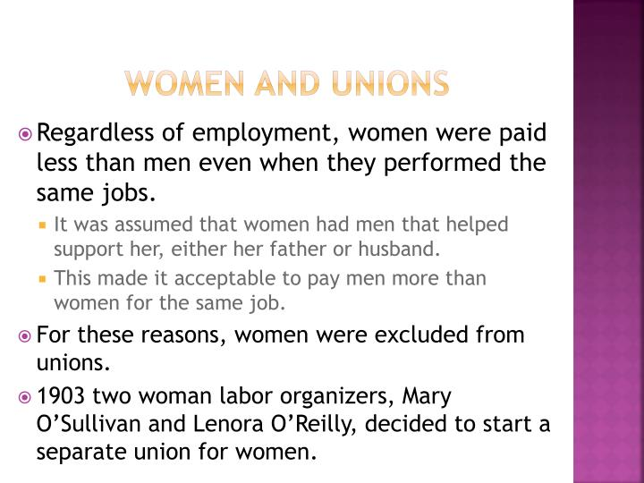 Women and Unions
