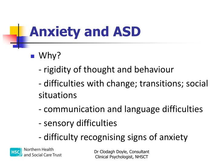 Anxiety and ASD