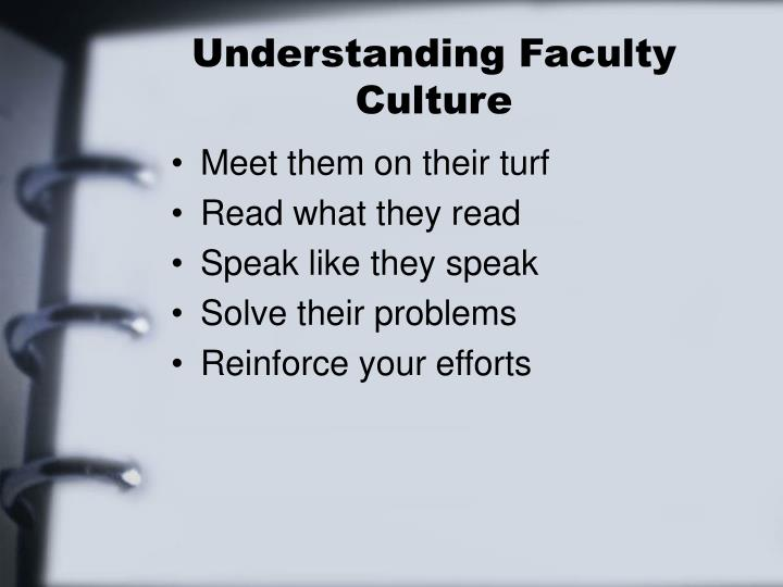 Understanding Faculty Culture
