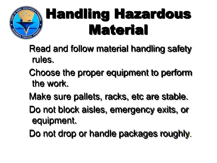 Handling Hazardous Material