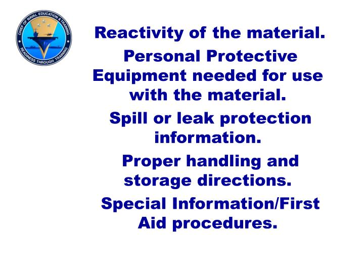 Reactivity of the material.