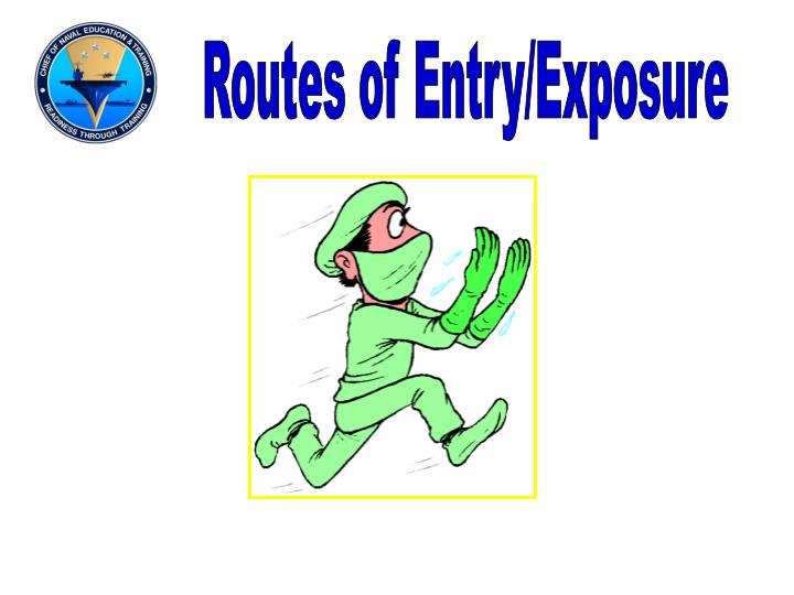 Routes of Entry/Exposure