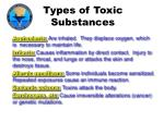 types of toxic substances