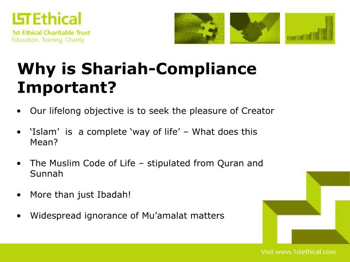 Why is Shariah-Compliance