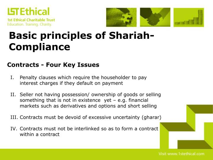 Basic principles of Shariah-Compliance