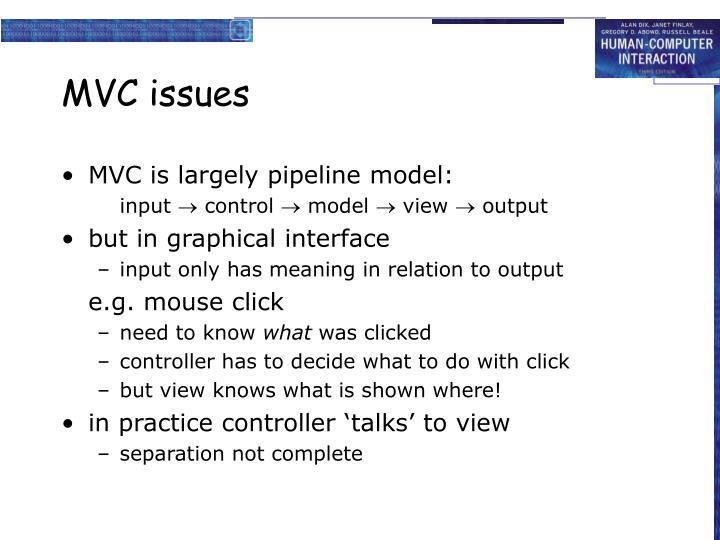 MVC issues
