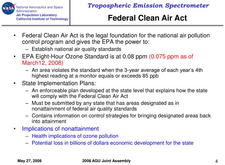Federal Clean Air Act