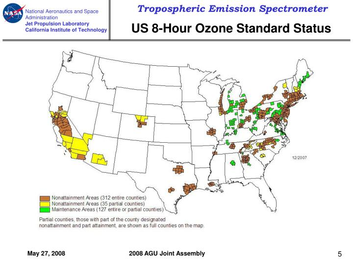 US 8-Hour Ozone Standard Status