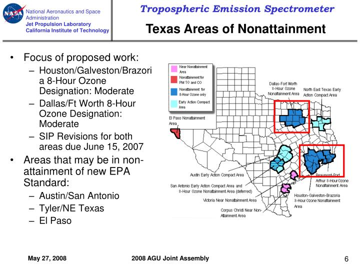 Texas Areas of Nonattainment