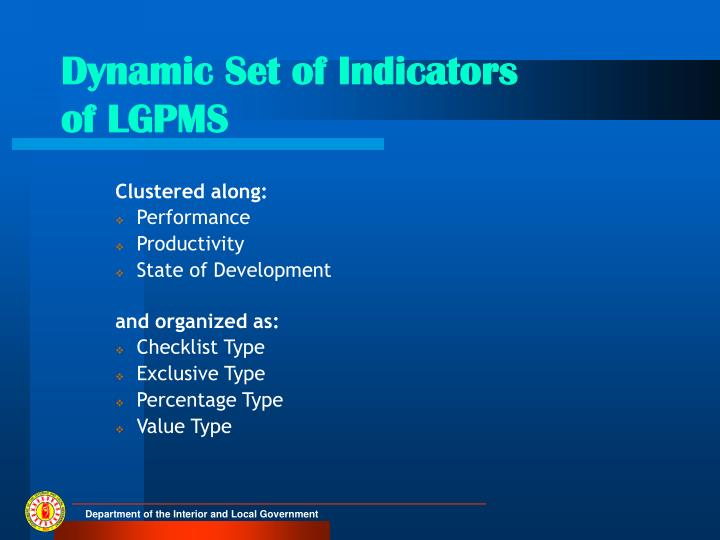 Dynamic Set of Indicators