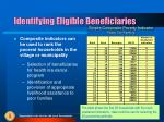 identifying eligible beneficiaries1