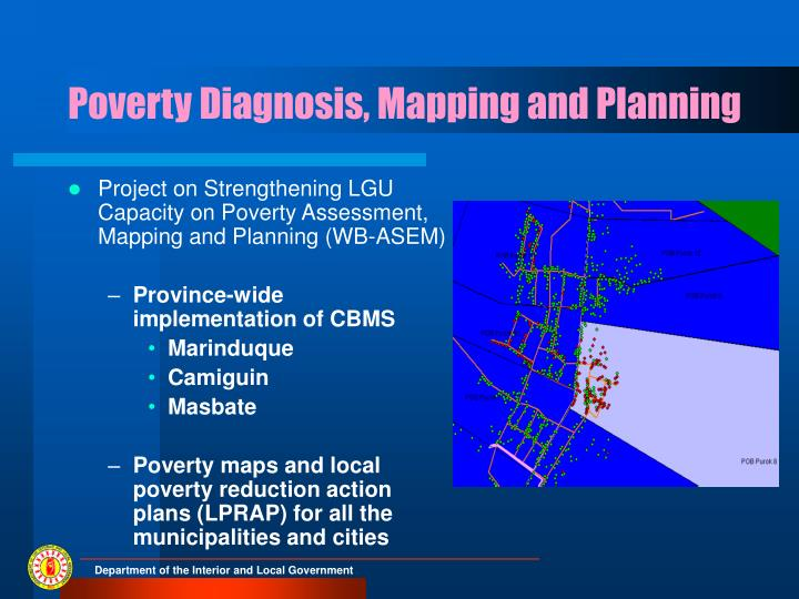 Poverty Diagnosis, Mapping and Planning