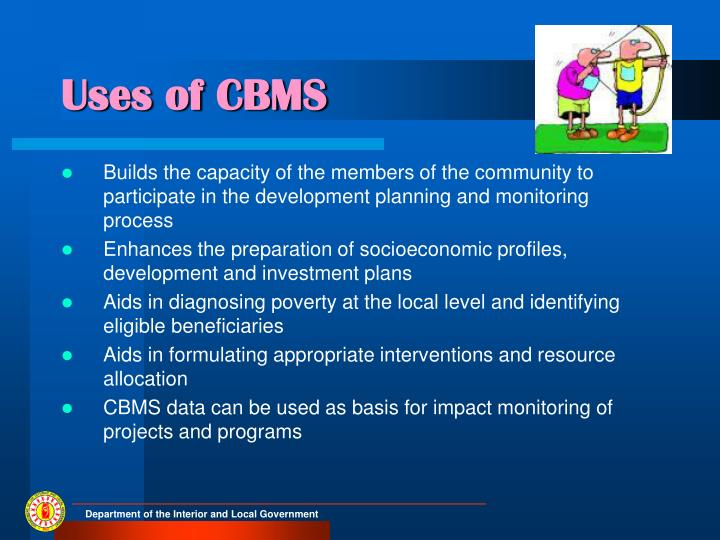 Uses of CBMS