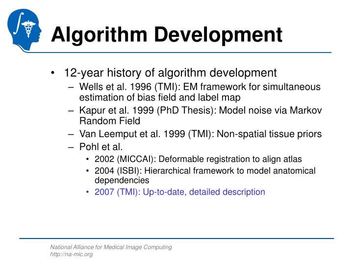 Algorithm Development