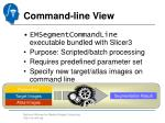 command line view