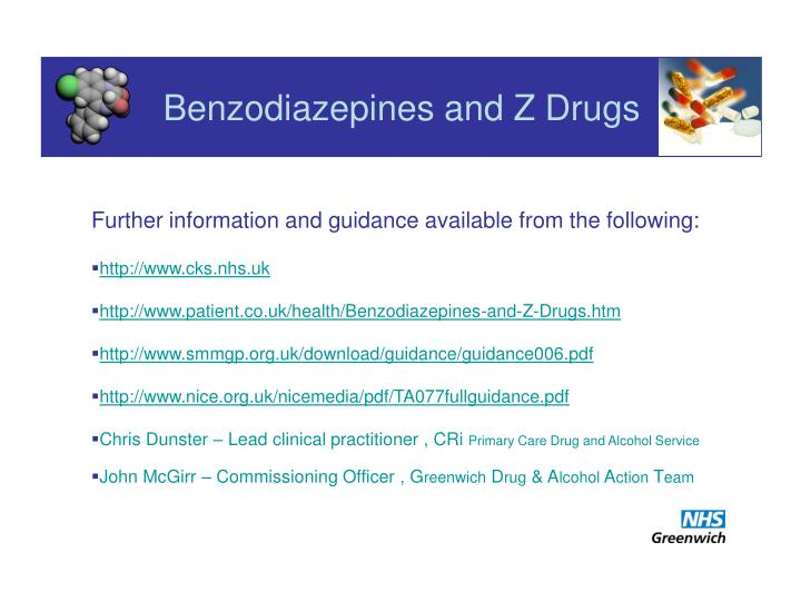 Benzodiazepines and Z Drugs