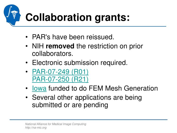 Collaboration grants: