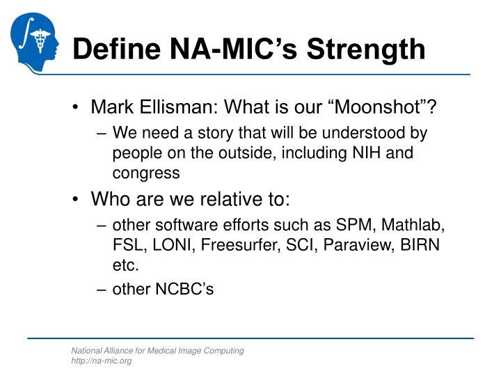 Define NA-MIC's Strength