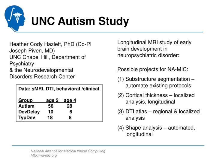 UNC Autism Study