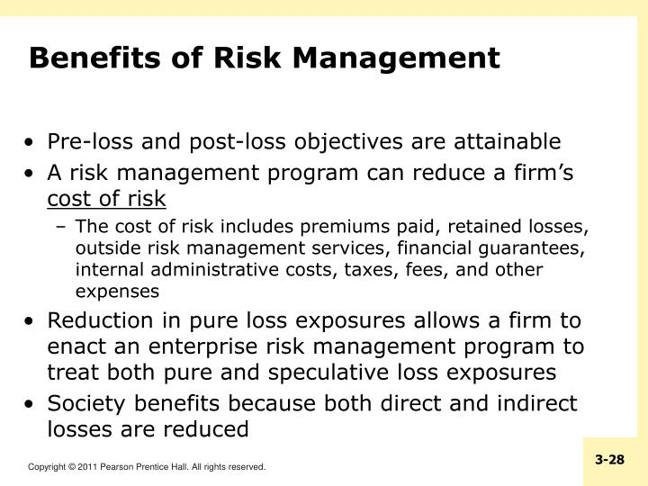 Benefits of Risk Management