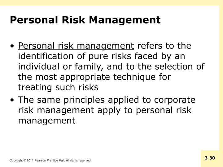 Personal Risk Management