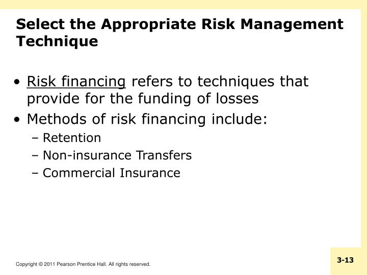 Select the Appropriate Risk Management Technique
