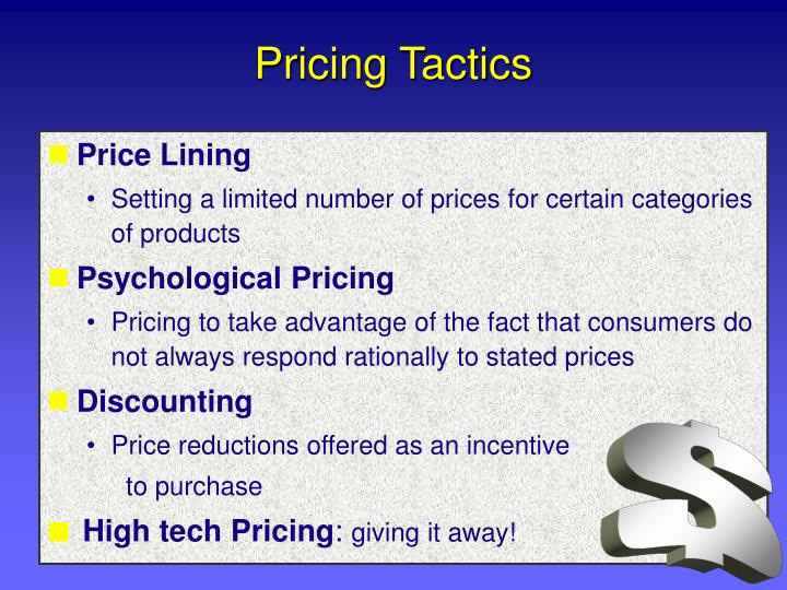 Pricing Tactics