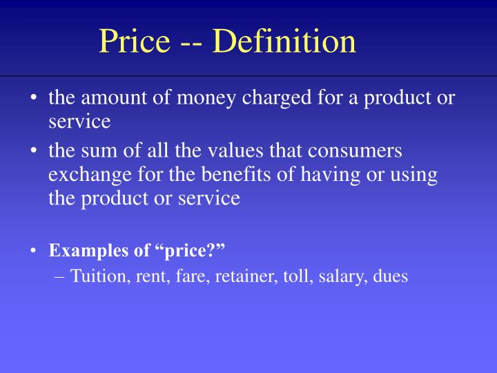 Price -- Definition