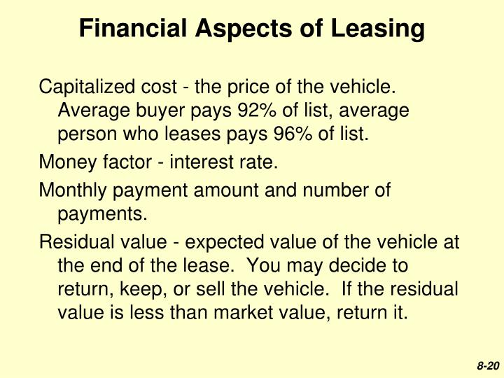 Financial Aspects of Leasing