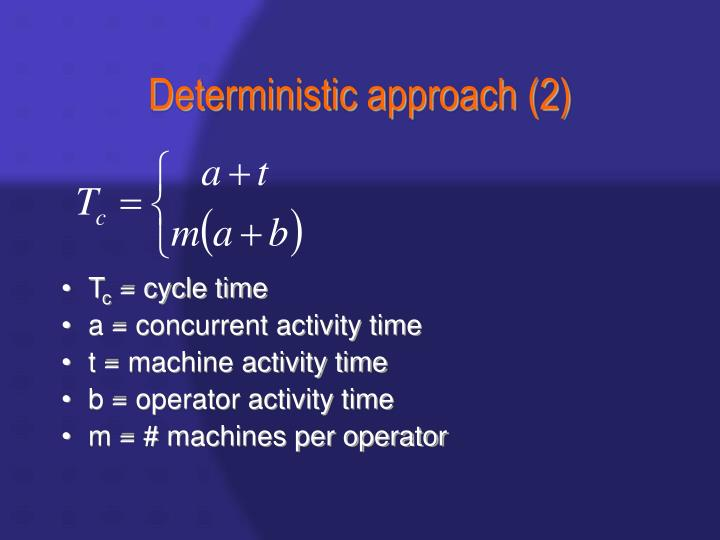 Deterministic approach (2)