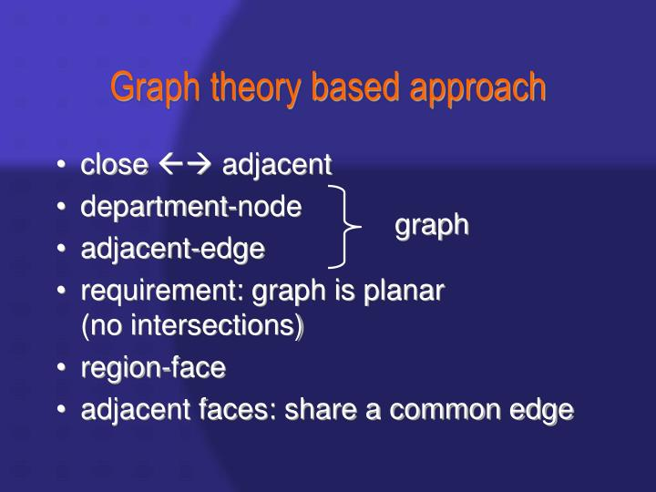 Graph theory based approach