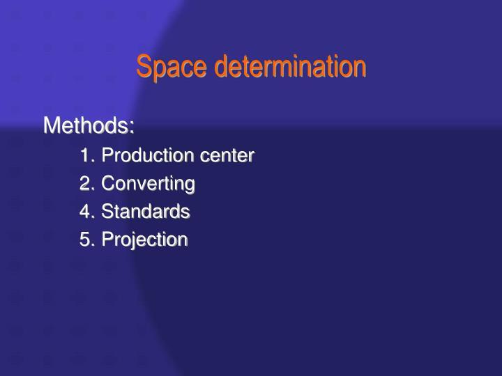 Space determination