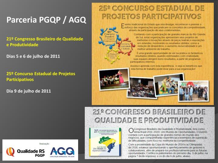 Parceria PGQP / AGQ
