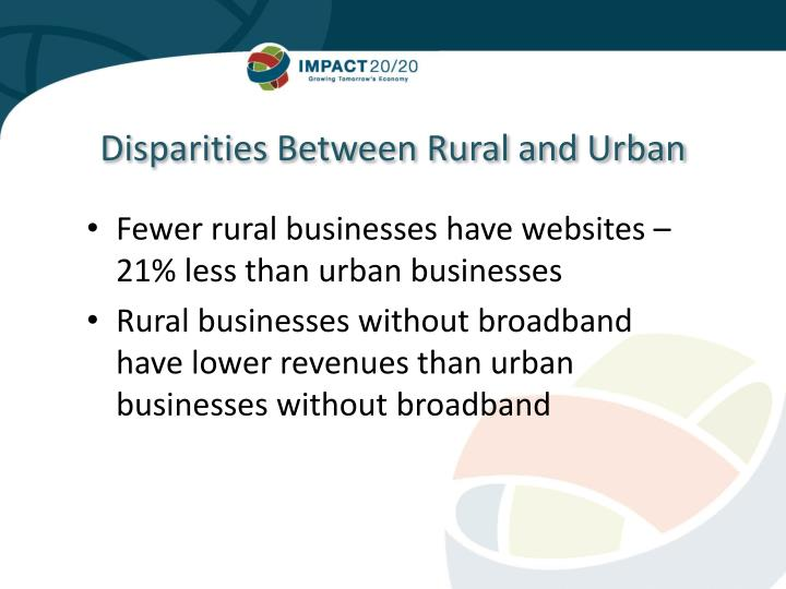 Disparities Between Rural and Urban
