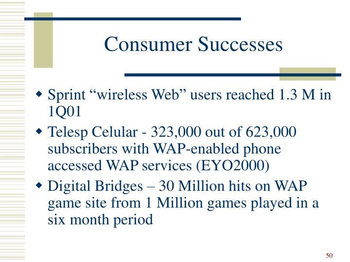 Consumer Successes