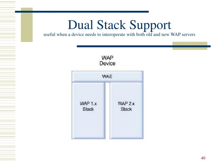 Dual Stack Support