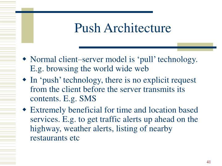 Push Architecture