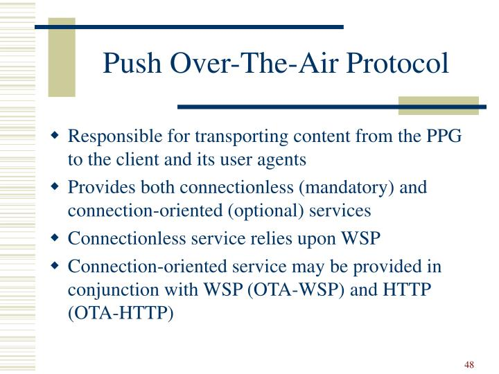 Push Over-The-Air Protocol