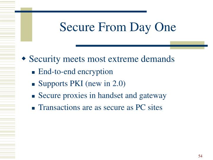 Secure From Day One